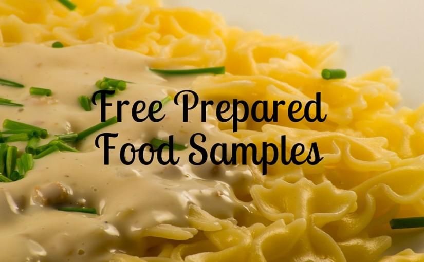 Free Prepared Food Sample