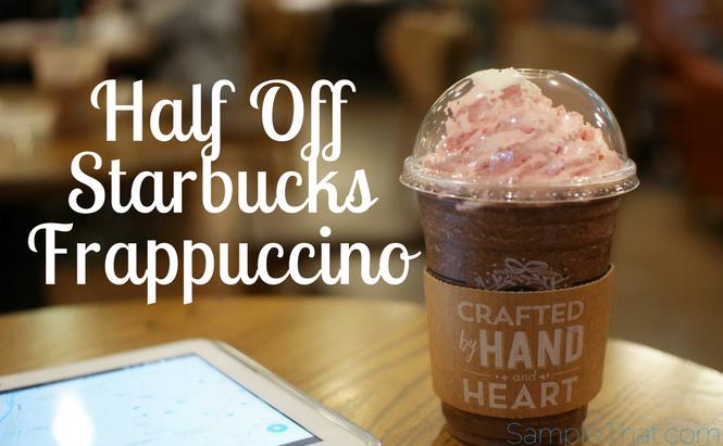 Half Off Starbucks Frappuccino