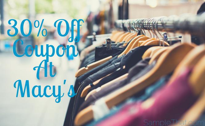 30% Off Coupon At Macy's