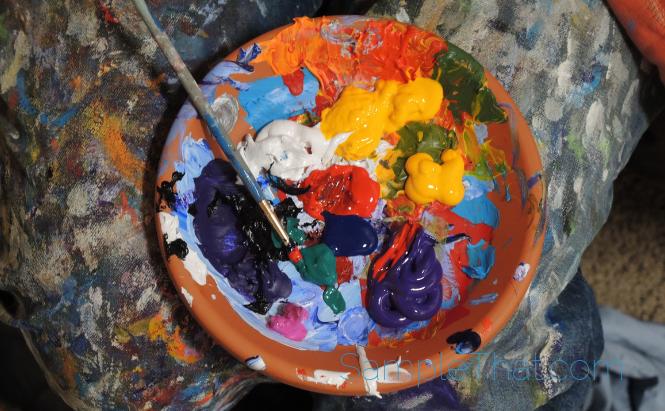 Free Acrylic Paint Samples